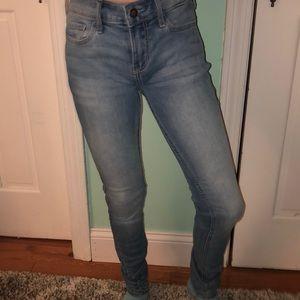 Hollister lightwashed jeans.